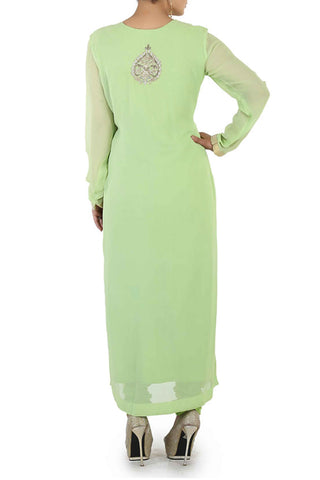 Mint Georgette Suit