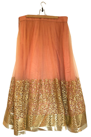 READY TO SHIP: Mix & Match Peach Sequin Lehenga & Dupatta