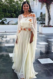 Ivory Long Cape Skirt Set