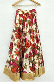 Printed Floral Lehenga With Red Blouse & Dupatta Skirt