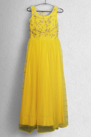 Sunshine Yellow Morning Anarkali FRONT