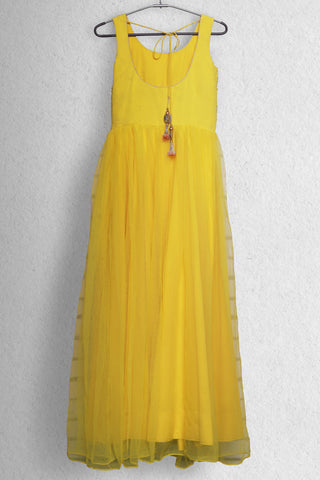 Sunshine Yellow Morning Anarkali