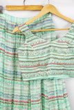 Mint Green Shine Skirt Set CLOSEUP