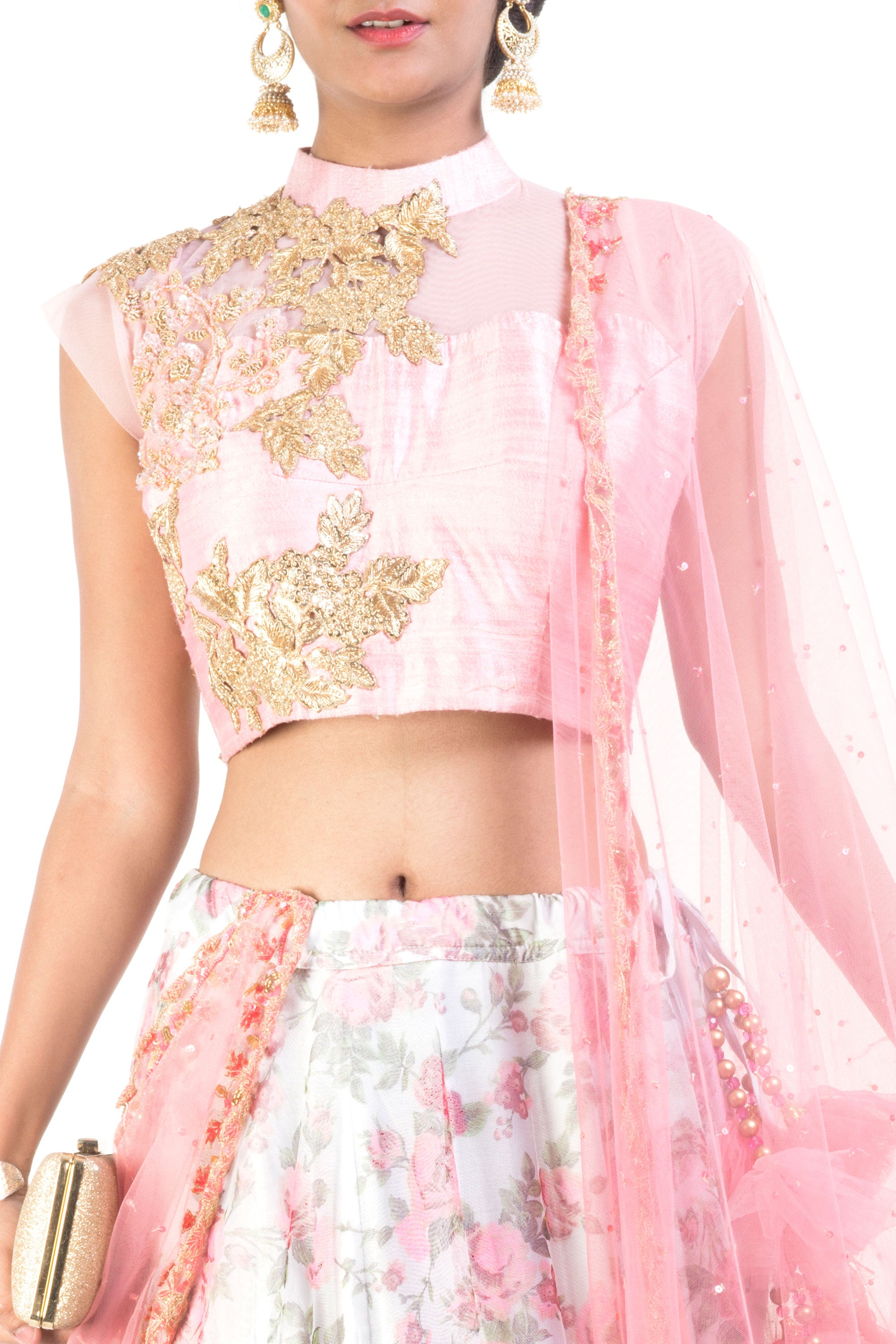 Floral Printed Lehenga Set Closeup
