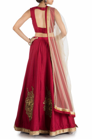 Ruby Sleeveless Lehenga Set