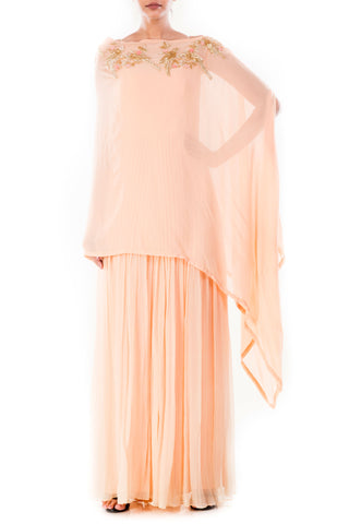 Creamsicle Jumpsuit & Cape Front