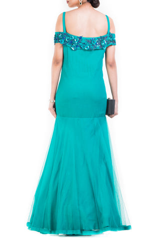 Turquoise Cocktail Gown