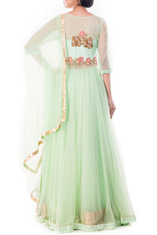 Alpine Green Lehenga Set
