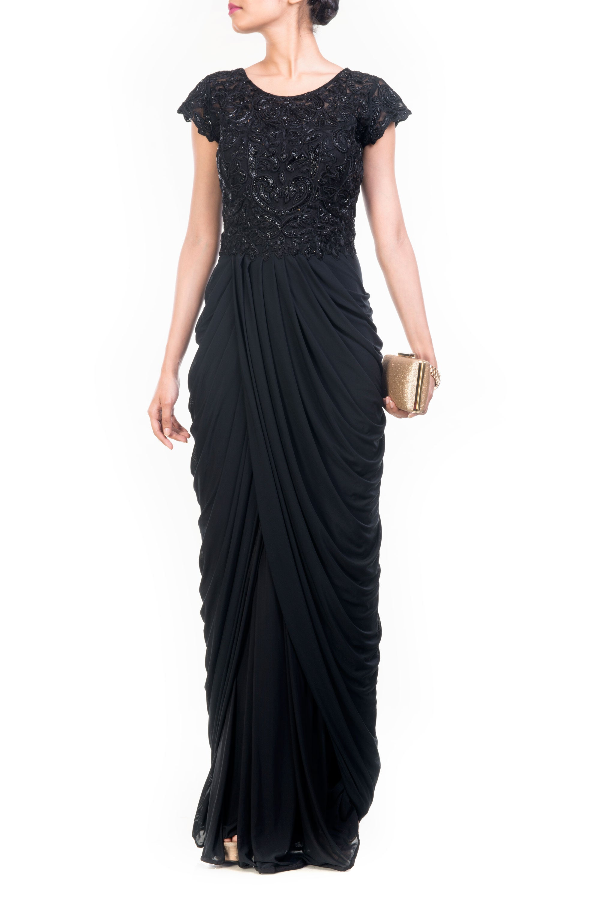 Black Cocktail Gown Front