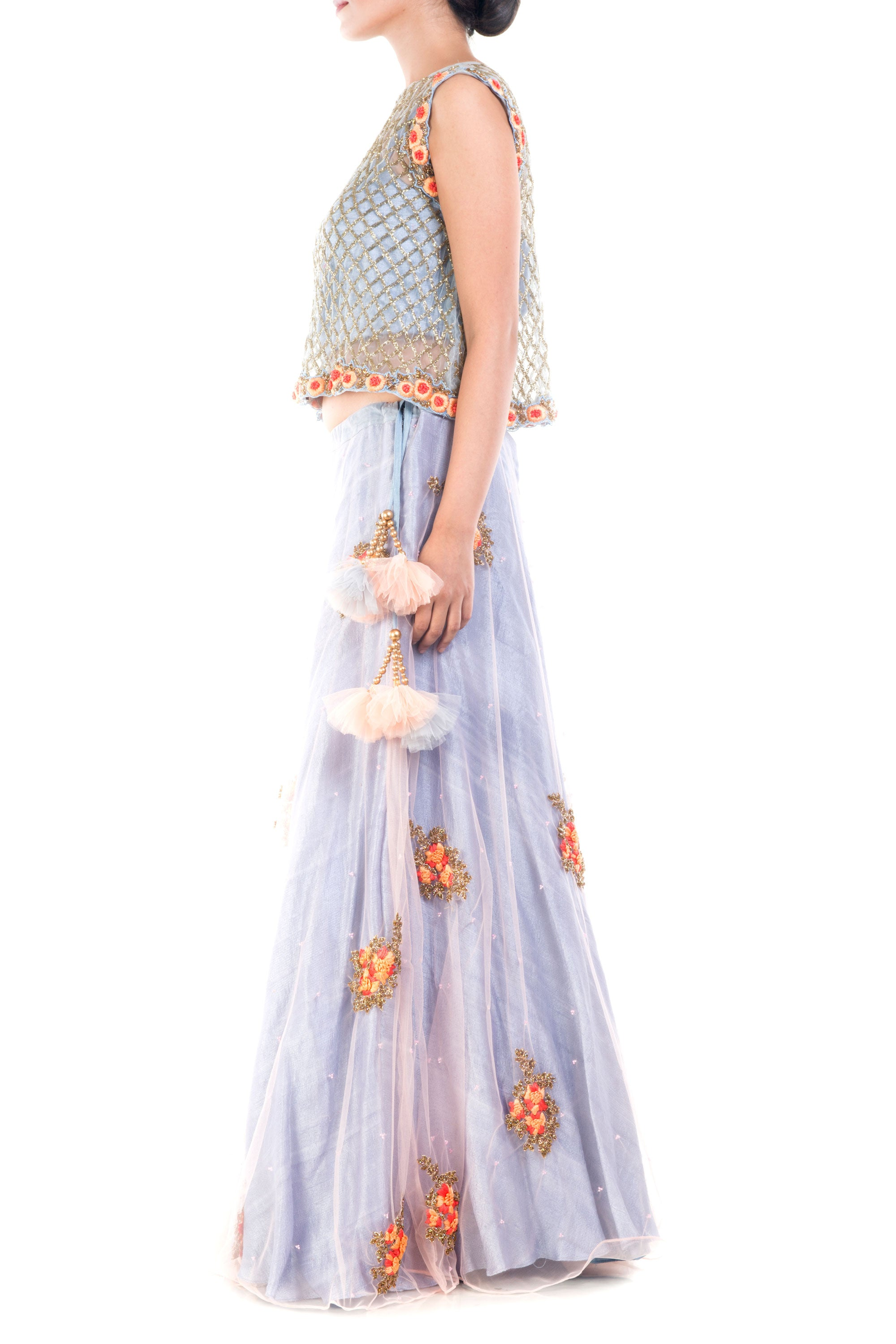 Lavender Blush Lehenga Set Side