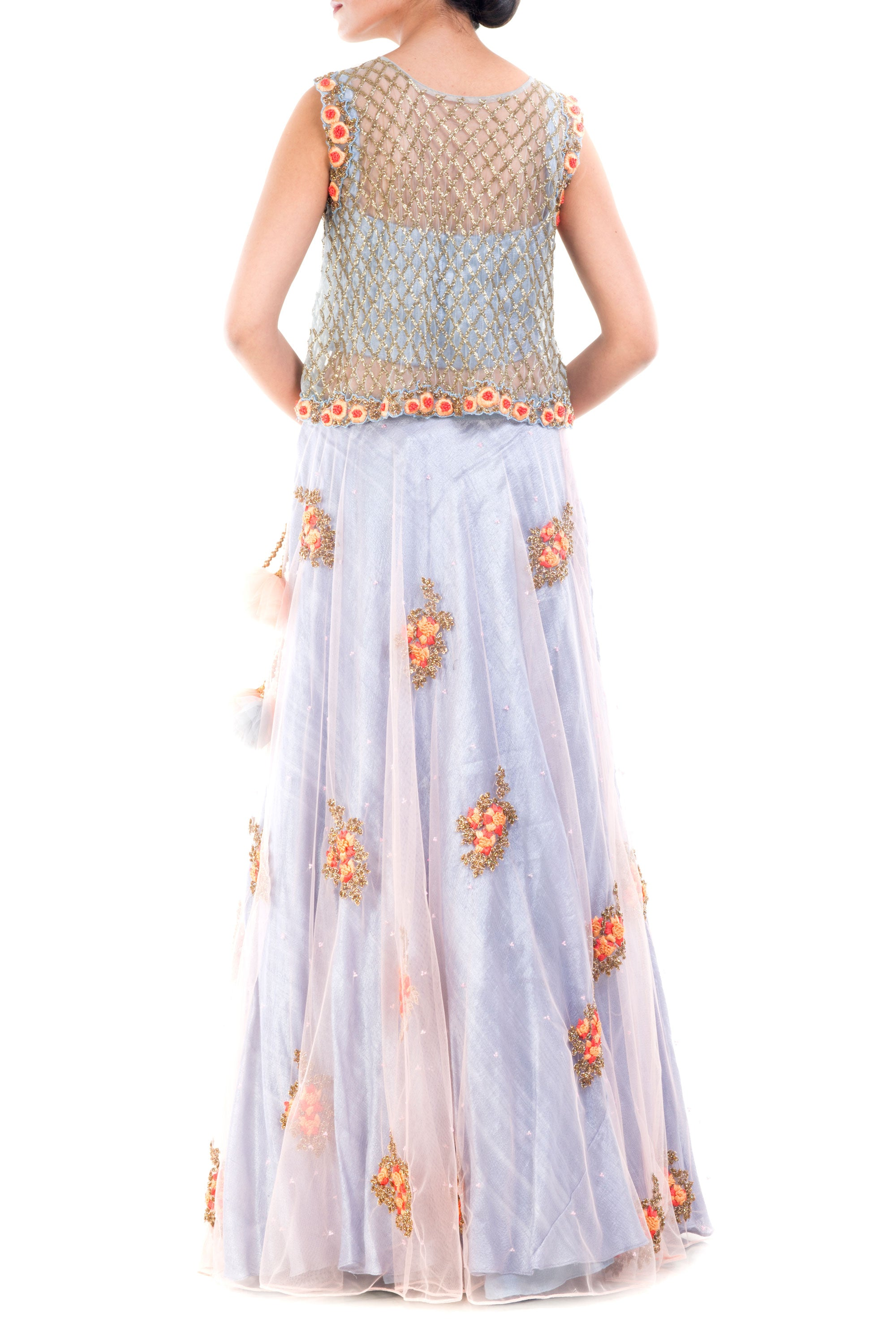 Lavender Blush Lehenga Set Back