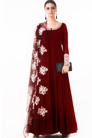 Maroon Ari Dress Front