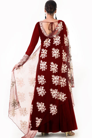 Maroon Ari Dress