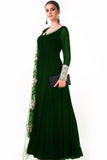 Bottle Green Ari Dress Side