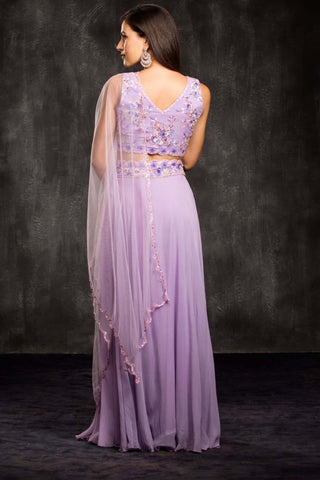 The Purple Lavendar Field Lehenga Set