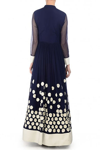 Navy Anarkali Set