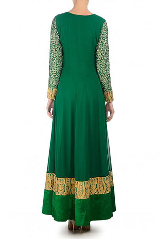Emerald Georgette Anarkali