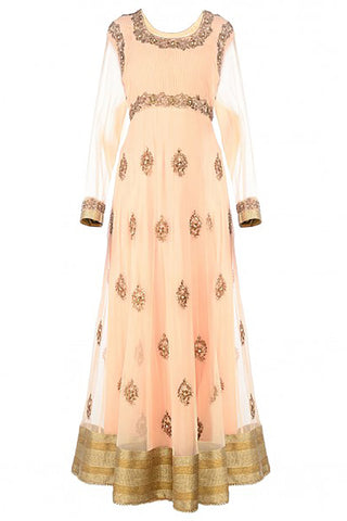Blush Peach Anarkali