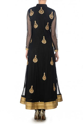 Black Net Anarkali