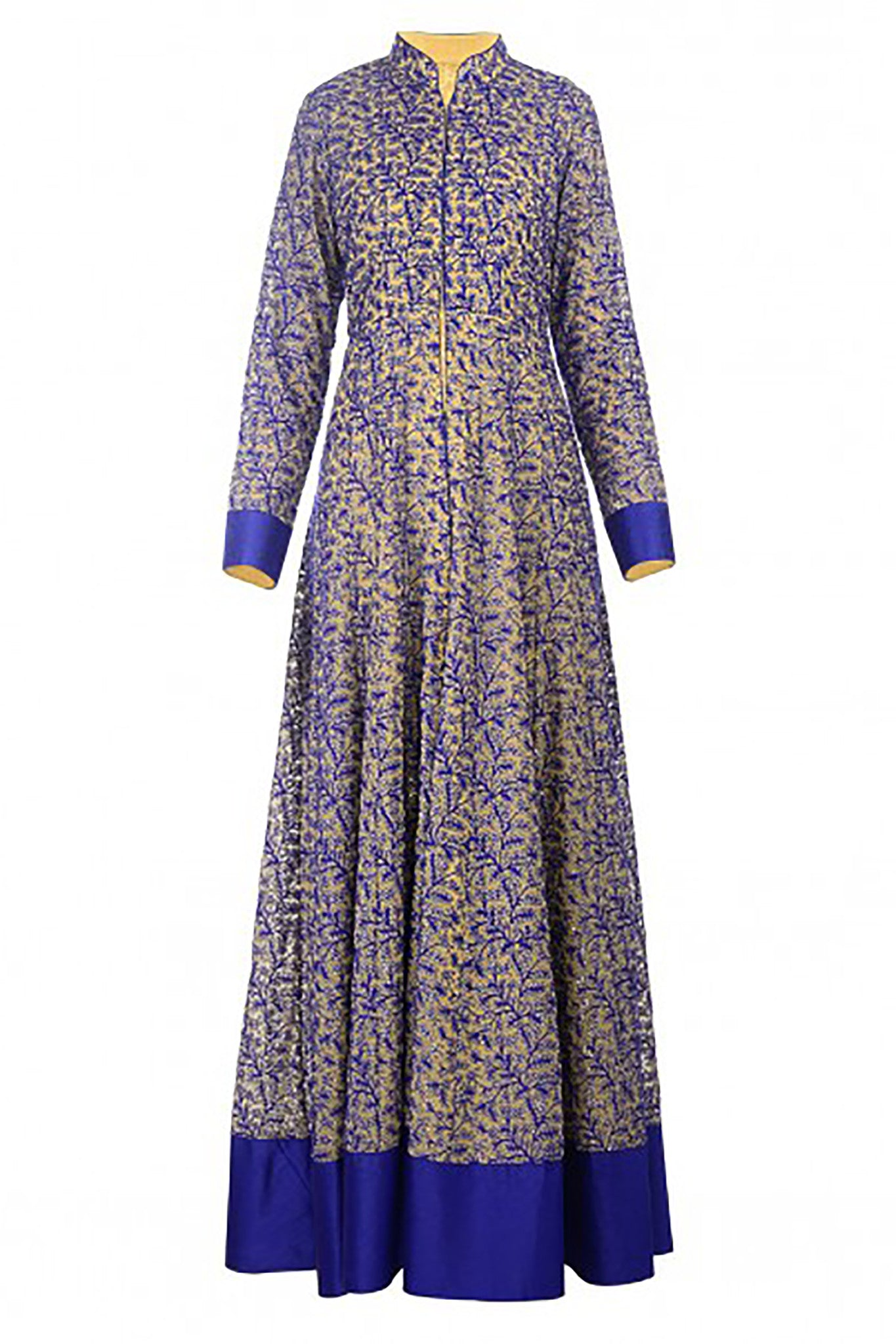 Blue Threadwork Anarkali