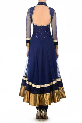 Navy & Gold Anarkali