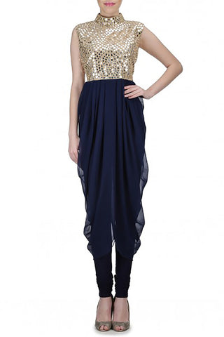Mirror-Work Dhoti Dress Front