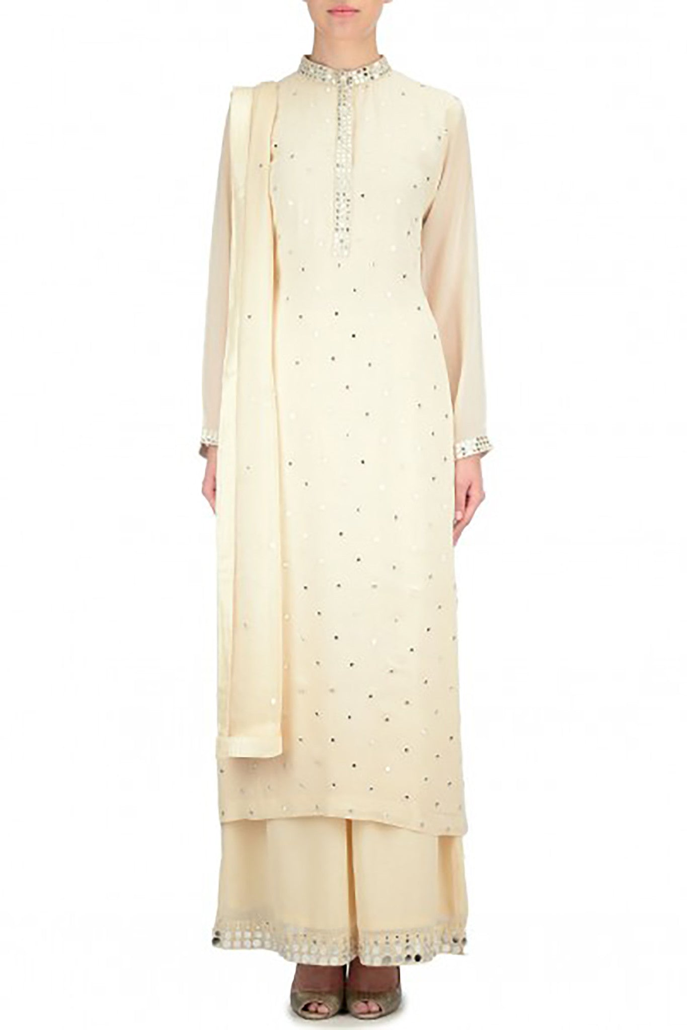 Cream Kurta Suit Front