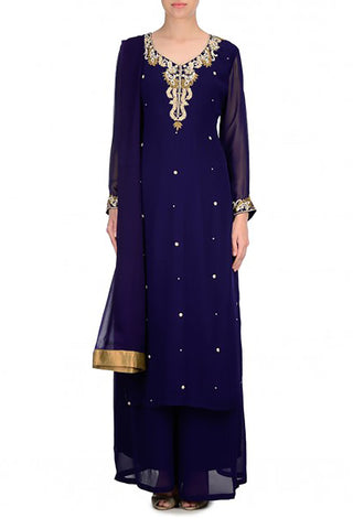 Navy Kurta Suit