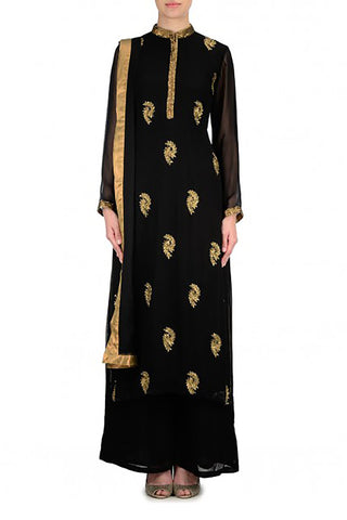 Black Kurta Suit Front