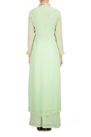 Mint Anarkali Suit