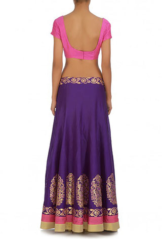 Regal Purple Silk Lehenga