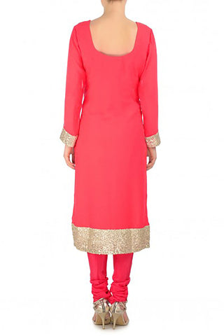 Coral Red Kurta Suit