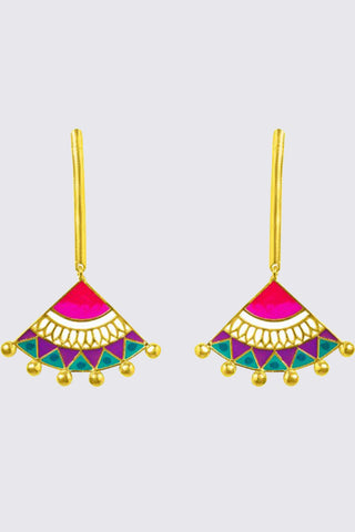 MADHUBANI EARRINGS MULTICOLOUR