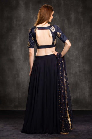 The Blue Natalie Lehenga Set