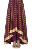 Plum & Gold Anarkali Skirt