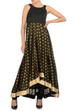 Black & Gold Anarkali Front