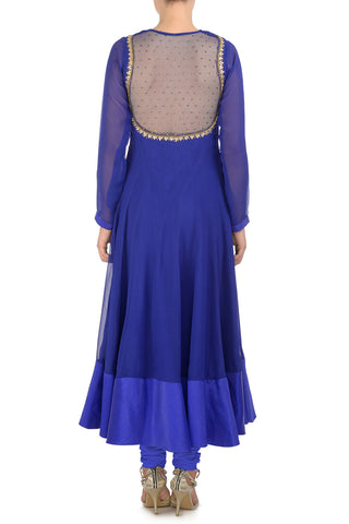 Two Tone Blue & Gold Kurta