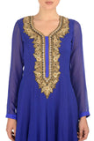 Blue & Gold Kurta Close Up