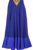 Blue & Gold Kurta Skirt