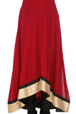 Red and Black Anarkali Skirt