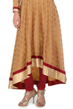 Red and Gold Anarkali Skirt