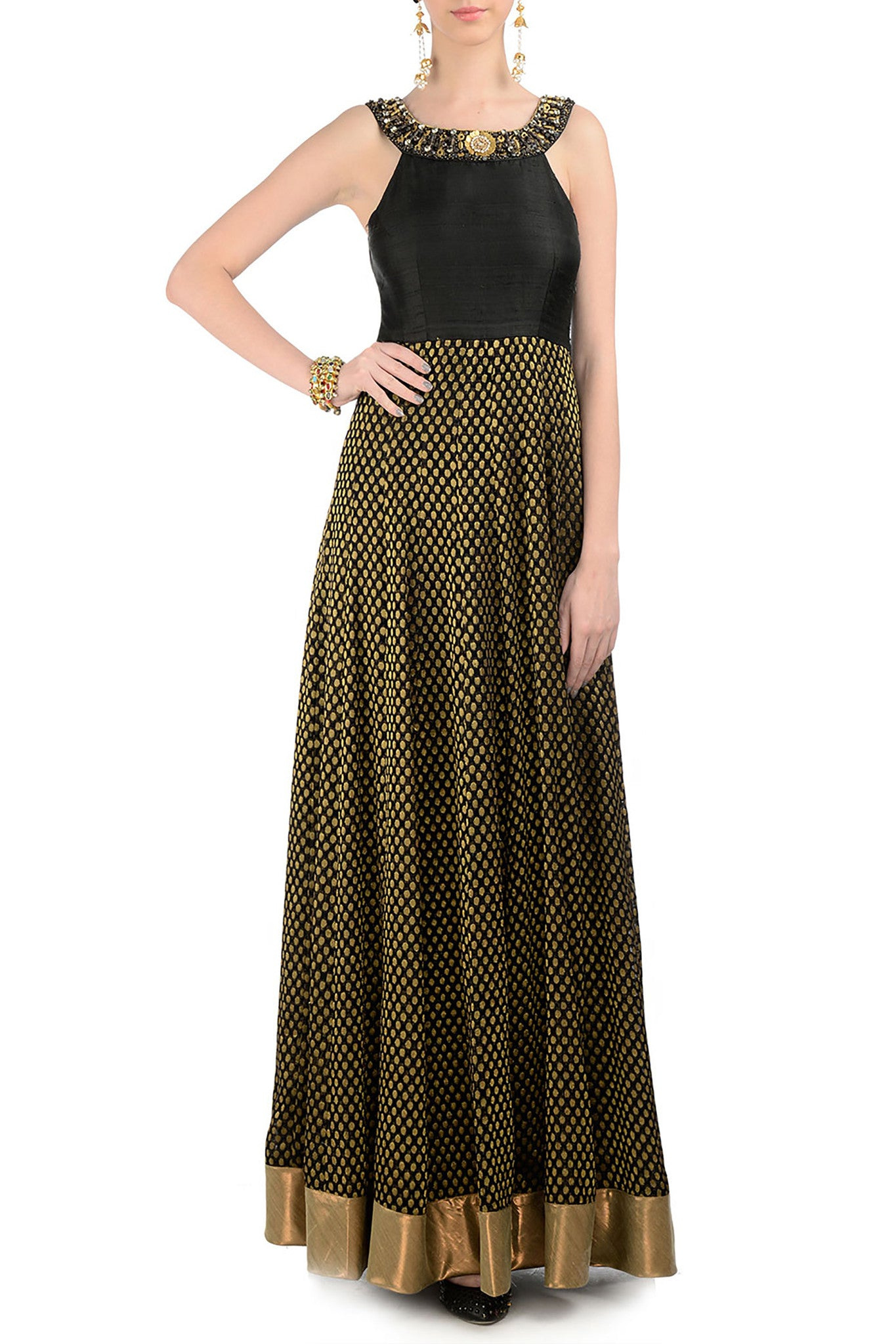 Black & Gold Gown Front