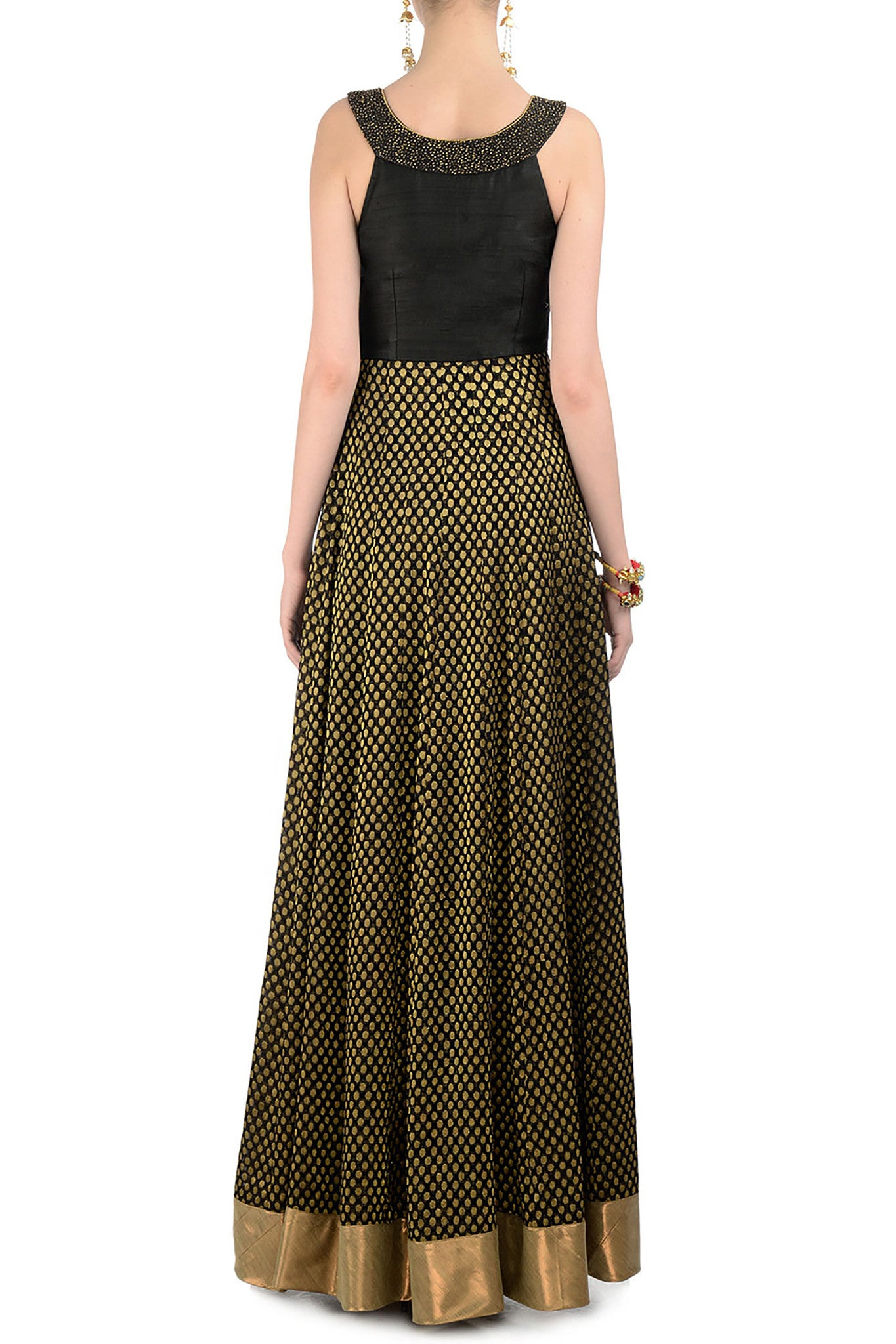 Black & Gold Gown Back