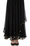 Black & Gold Anarkali with Brocade Skirt