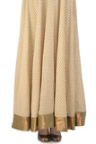 Ivory Anarkali with Gold Bird Motifs Skirt