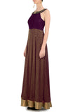 Plum & Gold Gown Side