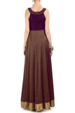 Plum & Gold Gown Back