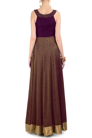 Plum & Gold Gown