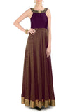 Plum & Gold Gown Front