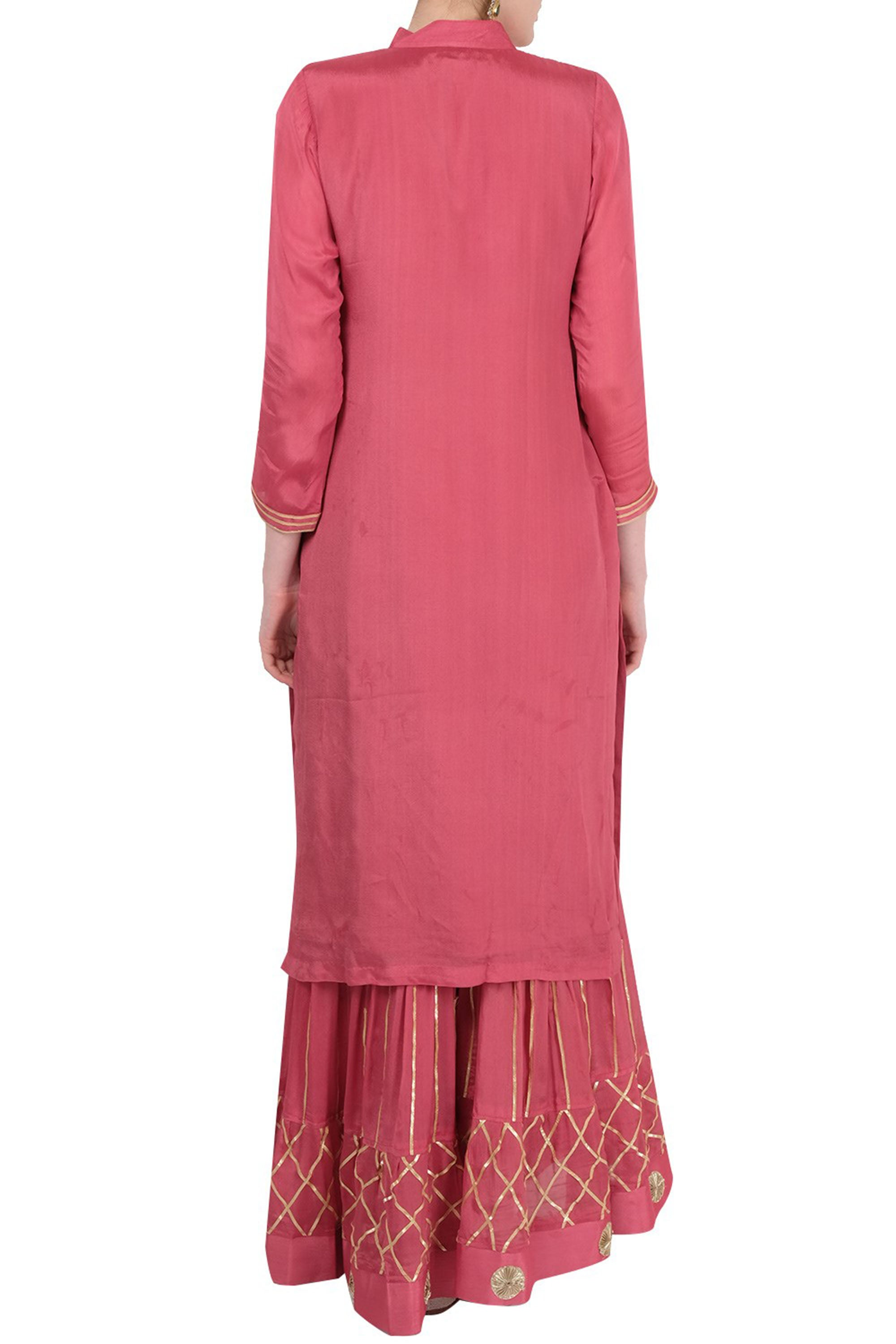 Peach Gharara Suit Back